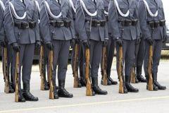 Militairen op Parade Royalty-vrije Stock Afbeeldingen