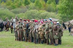 Militairen in rij Royalty-vrije Stock Fotografie