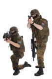 Militairen van Bundeswehr. Stock Foto's