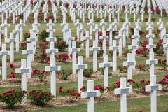 Militairen van de begraafplaats stierven de Eerste Wereldoorlog bij Slag van Verdun, Fran stock foto