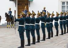 Militairen van het regiment van het Kremlin Royalty-vrije Stock Foto's