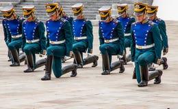 Militairen van het regiment van het Kremlin Stock Afbeelding
