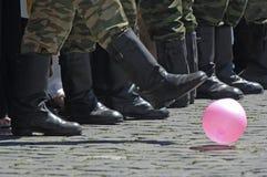 Militairen van het Russische leger in Moskou Royalty-vrije Stock Afbeeldingen