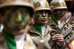 Militairengezichten Stock Fotografie