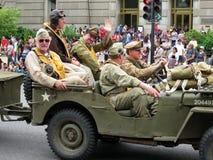 Militaires de la deuxième guerre mondiale image libre de droits