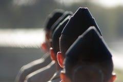 Militaires de marche Photos libres de droits