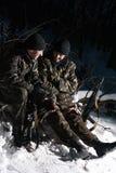 Militaires doublement armés. Images stock