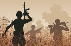Militairpatrouille vector illustratie