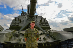 Militairtribunes voor gemotoriseerde houwitser Royalty-vrije Stock Foto