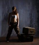 Militairvrouw Royalty-vrije Stock Foto's