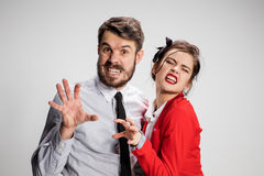 The militant business man and woman Royalty Free Stock Photography