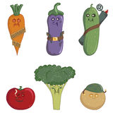 Militant vegetables Stock Image