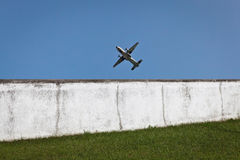 Militar aircraft in flight. Royalty Free Stock Image