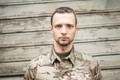 Militar caucasiano sério novo imagem de stock royalty free