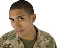 Militar del afroamericano Imagenes de archivo