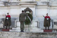 Militar ignoti Rome piazza venezia Obrazy Stock