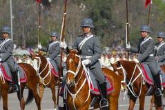 Militar Jinete Stock Foto