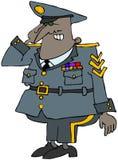 Militar que saluda Imágenes de archivo libres de regalías