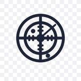 Militar Radar transparent icon. Militar Radar symbol design from stock illustration