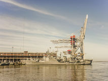 Militar Ship at Montevideo Port Royalty Free Stock Photos