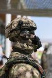 Militar stridsoldat Uniform Dressed vid skyltdockan Arkivfoton