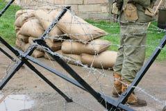 Militare-punto di controllo fotografia stock libera da diritti