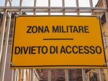 Militare strefa Zdjęcia Royalty Free