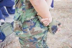 Militares de Asia del hombre de guante Imagen de archivo