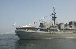 """Militares del día del †de la celebración """"- marina de guerra Rusia Foto de archivo"""