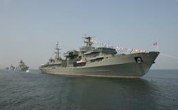 """Militares del día del †de la celebración """"- marina de guerra Rusia Imagen de archivo"""
