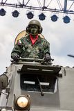 Militares ecuatorianos en desfile Foto de archivo libre de regalías