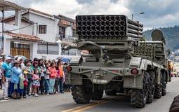 Militares ecuatorianos en desfile Imagen de archivo libre de regalías