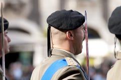 Militares italianos durante una ceremonia Fotografía de archivo libre de regalías
