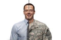 Militares a la transición civil Imagen de archivo libre de regalías
