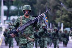 Militares mexicanos Imágenes de archivo libres de regalías