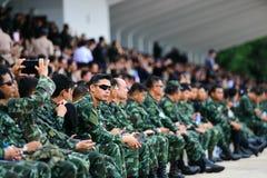 Militares tailandeses de la artillería Imagen de archivo