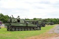 Militares tailandeses de la artillería Imágenes de archivo libres de regalías