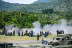 Militares tailandeses de la artillería Fotos de archivo