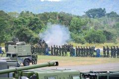 Militares tailandeses de la artillería Fotografía de archivo libre de regalías