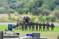 Militares tailandeses de la artillería Fotografía de archivo