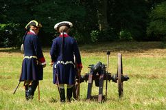 Militari con il canone Immagine Stock Libera da Diritti