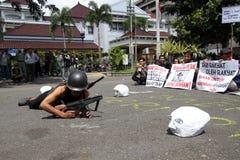 Militari di nonviolenze Fotografia Stock