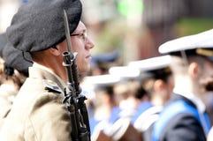 Militari italiani durante la cerimonia Fotografia Stock Libera da Diritti