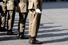 Militari italiani durante la cerimonia Fotografie Stock