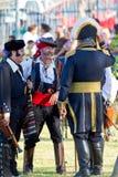 Militari storici che rimettono in vigore Fotografia Stock Libera da Diritti