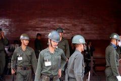 Militari tailandesi a Bangkok Immagine Stock