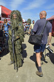 Militaria funs at the International Gathering of Military Vehicles in Borne Sulinowo, Poland Stock Photography