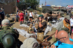 Militaria funs at the International Gathering of Military Vehicles in Borne Sulinowo, Poland Royalty Free Stock Photography