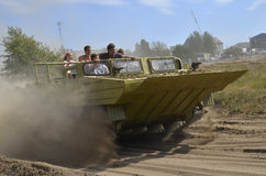Militaria funs at the International Gathering of Military Vehicles in Borne Sulinowo, Poland Stock Photos