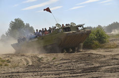Militaria funs at the International Gathering of Military Vehicles in Borne Sulinowo, Poland Stock Image